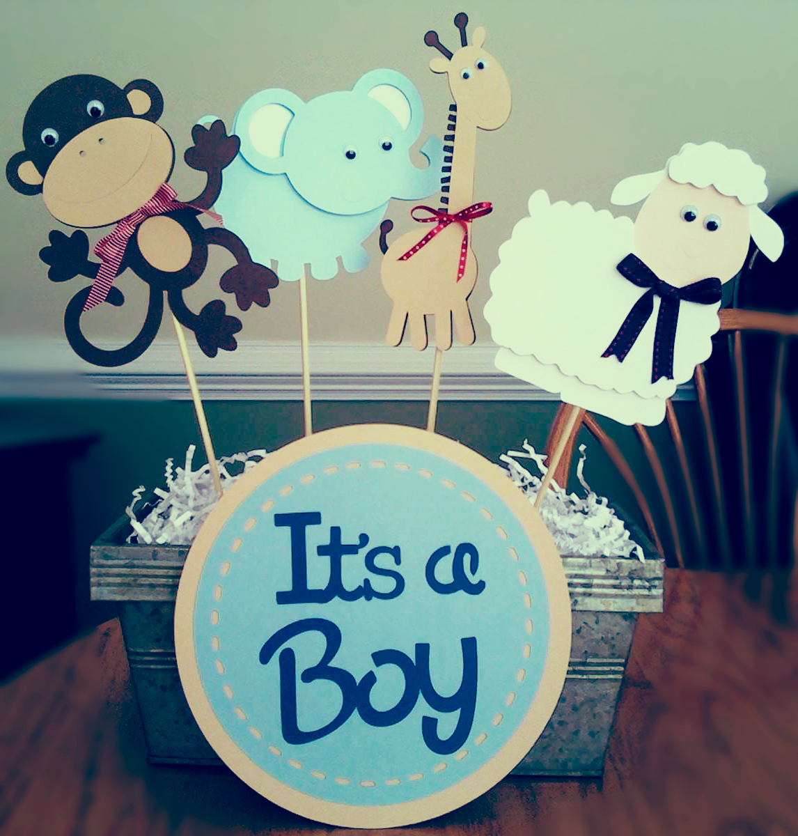 It s a boy baby shower invitation wording for Baby shower centerpiece decoration