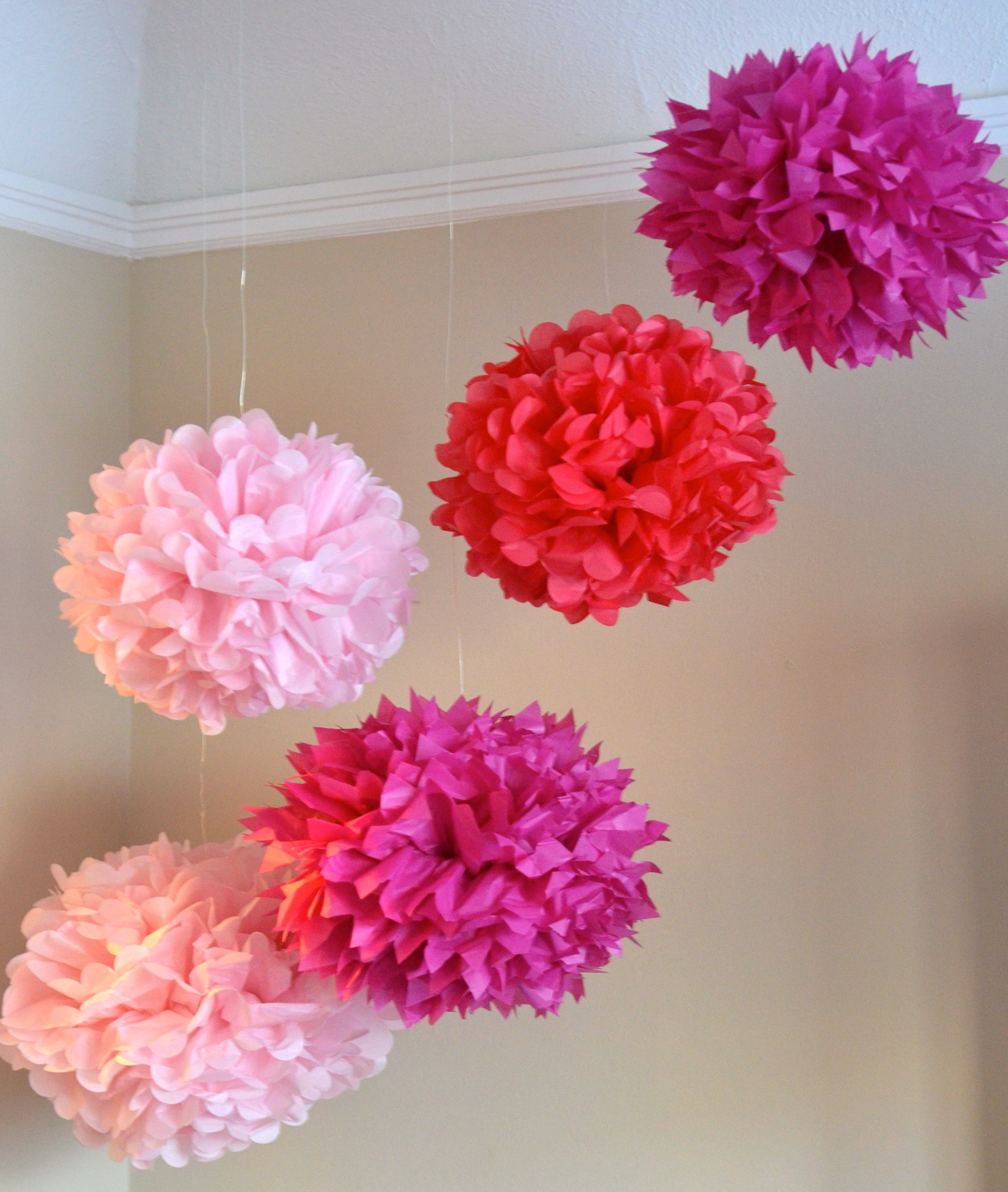 paper tissue pom poms How to: diy how to make tissue pom poms diy tissue paper pom poms how to make tissue paper balls diy tissue paper puffs category howto & style show more show less.