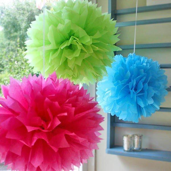 Pom-Pom Decoration Tissue Balls | all.urz party planning