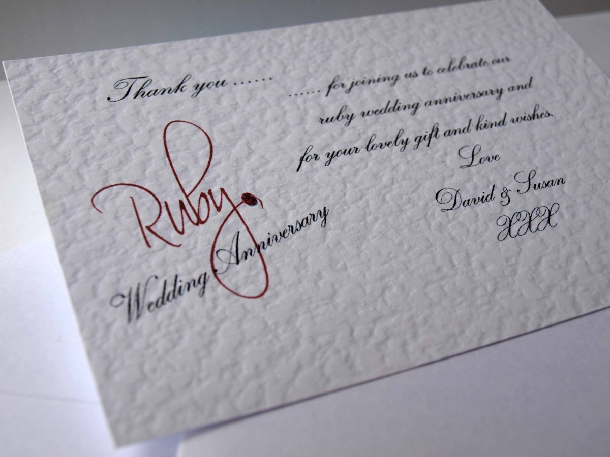 Thank You For A Wedding Gift: Thank You For Anniversary Wording